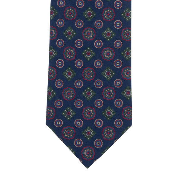 BLUE TIE SILK TROPEA MEDALLION