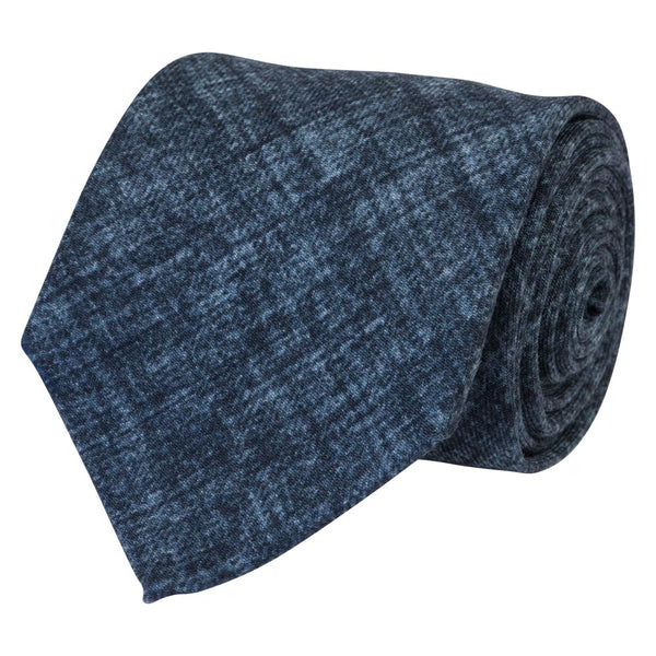 blue wool tie matera solid rolled