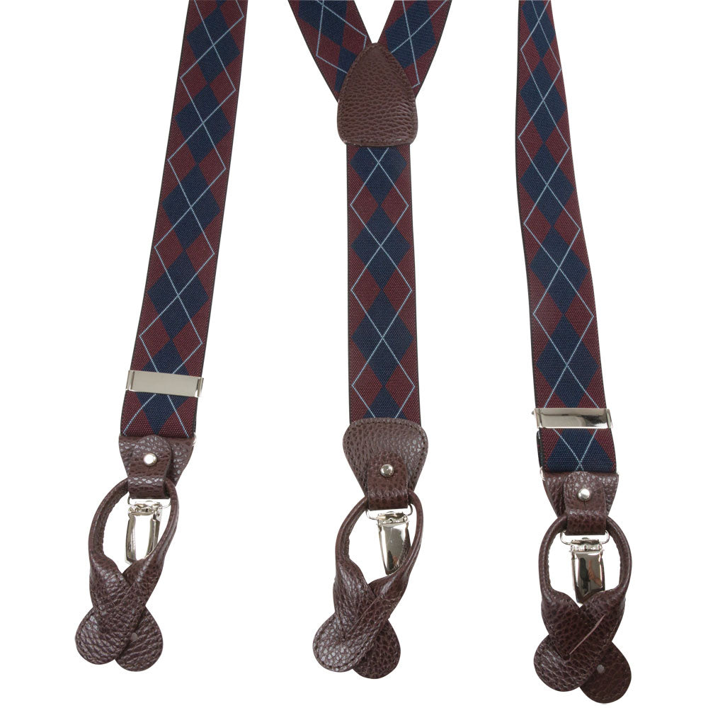 SUSPENDERS I EXCLUSIVE I BURGUNDY - Portia 1924
