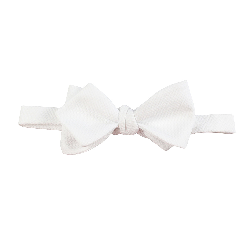 classic butterfly white diamond bow tie front