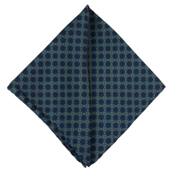 GREEN POCKET SQUARE SILK
