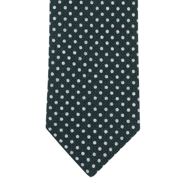 GREEN TIE SILK TROPEA DOTS