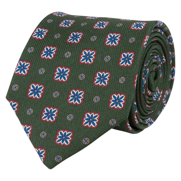 MOSS GREEN SILK TIE SET