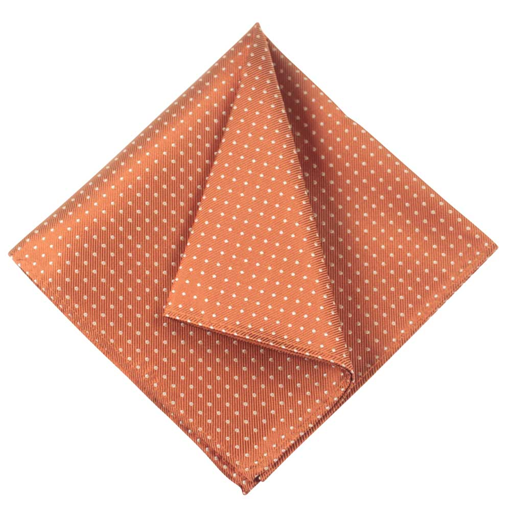 POCKET SQUARE I SILK DOT I ORANGE - Portia 1924