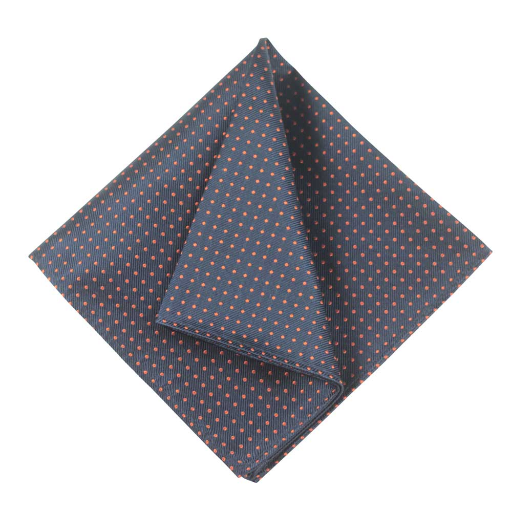 POCKET SQUARE I SILK DOT I DARK BLUE - Portia 1924