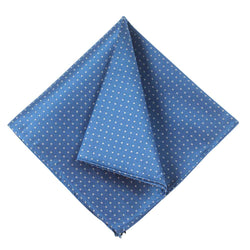 POCKET SQUARE I SILK DOT I BLUE - Portia 1924
