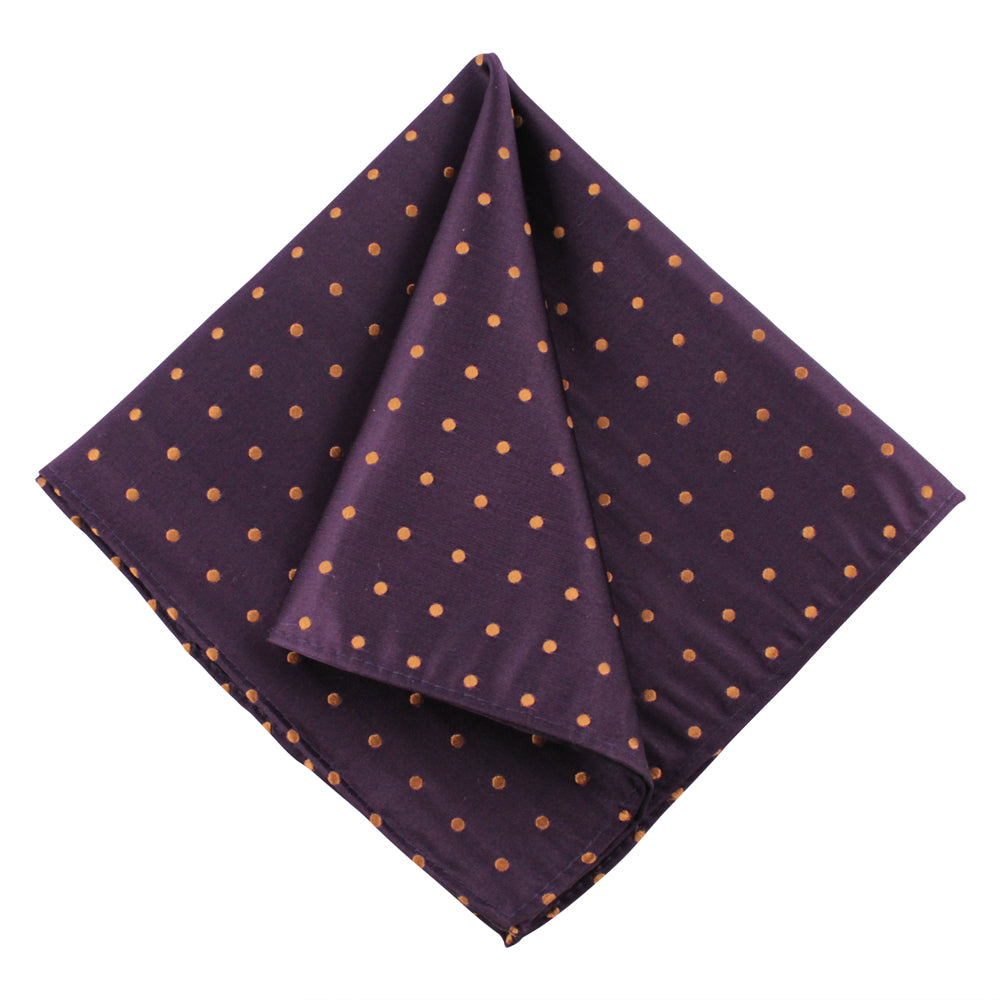 POCKET SQUARE I SILK DOT I PURPLE - Portia 1924