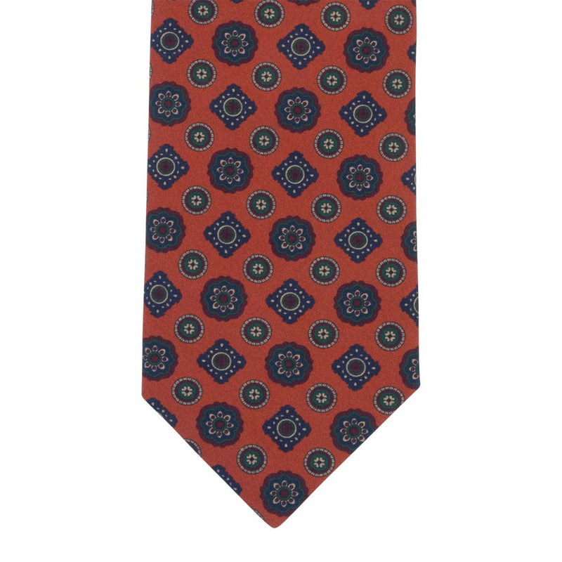 ORANGE TIE SILK TROPEA MEDALLION