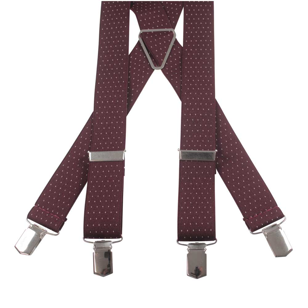 SUSPENDERS I SMALL DOT I BURGUNDY - Portia 1924