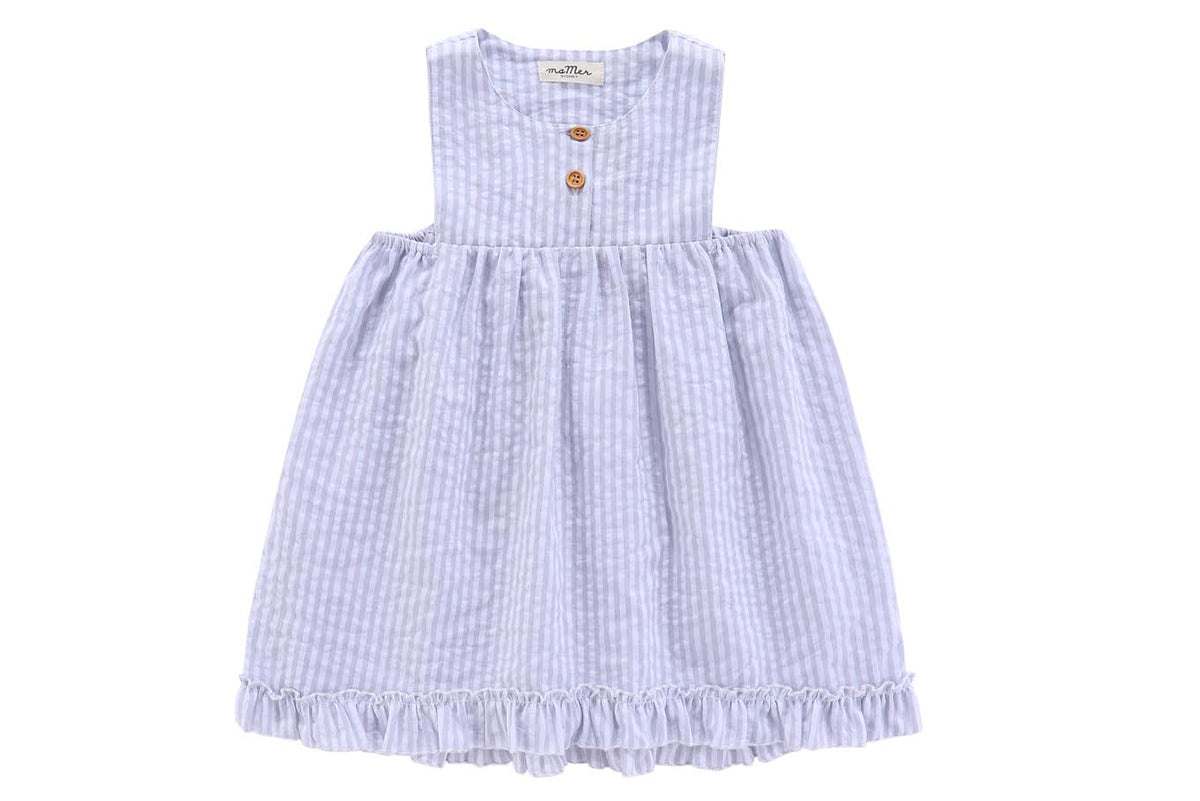 Capri dress - costal fabric - 100% cotton: 1-2Y,  6-8Y ONLY LEFT