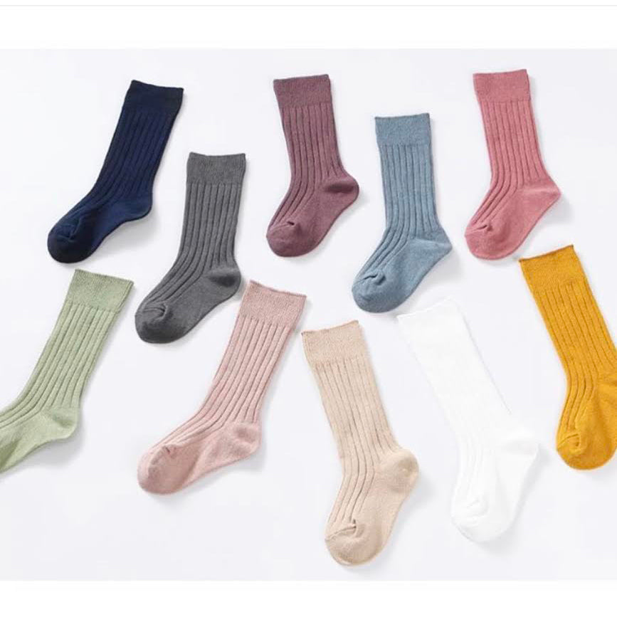 PROMO: Knee High Socks 10 pairs bundle: size 0-1Y, 1-2Y, 2-3Y, 4-6Y