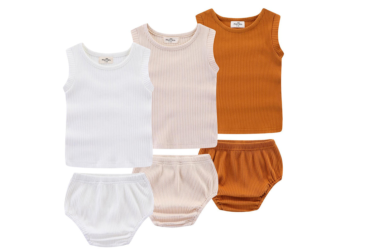Roma ribbed cotton 2pcs set: 0-3M, 3-6M, 6-12M, 1-2Y