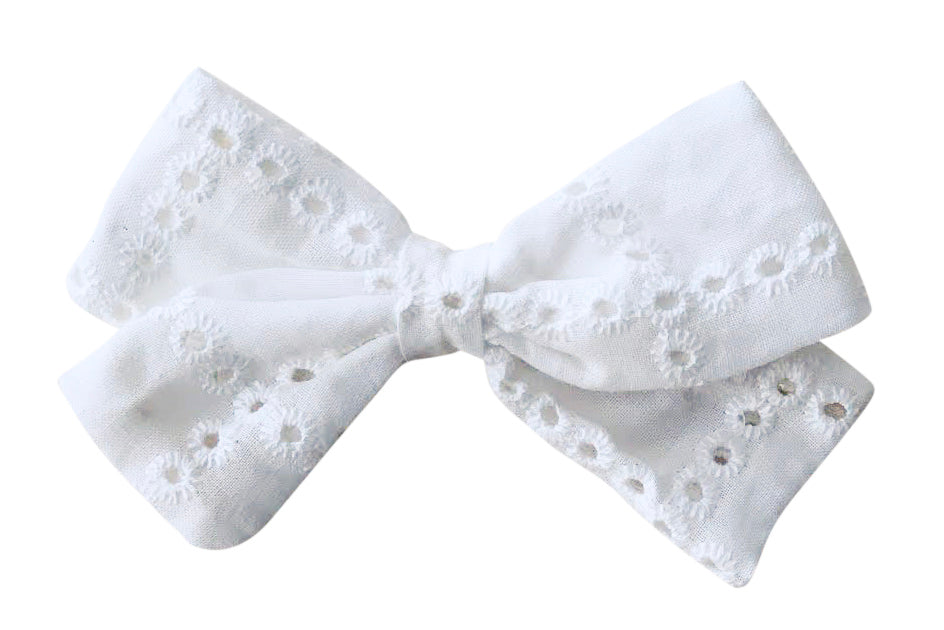 Florence lace fabric: hair bow or elastic headband