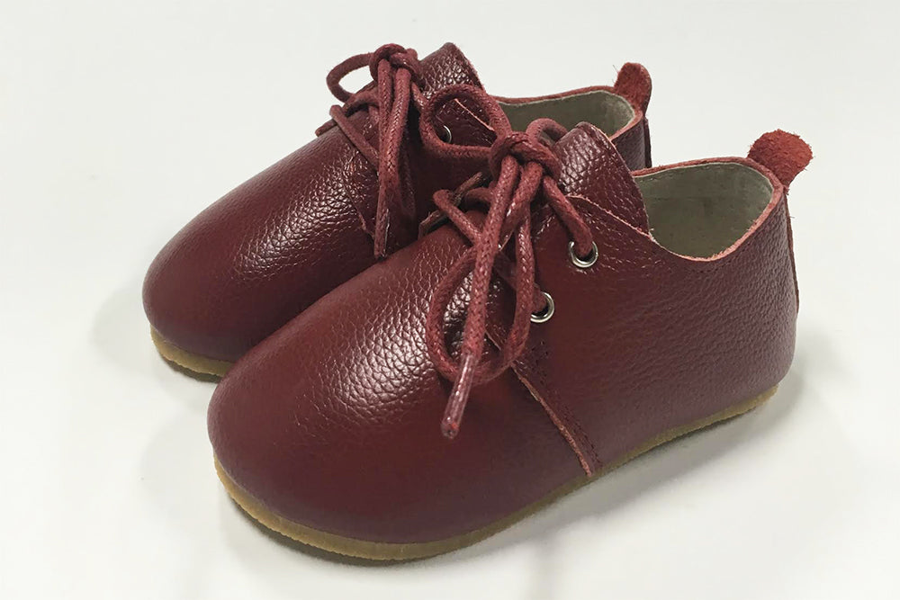 OXFORD SHOES -  Handmade from 100% cow leather -  chestnut