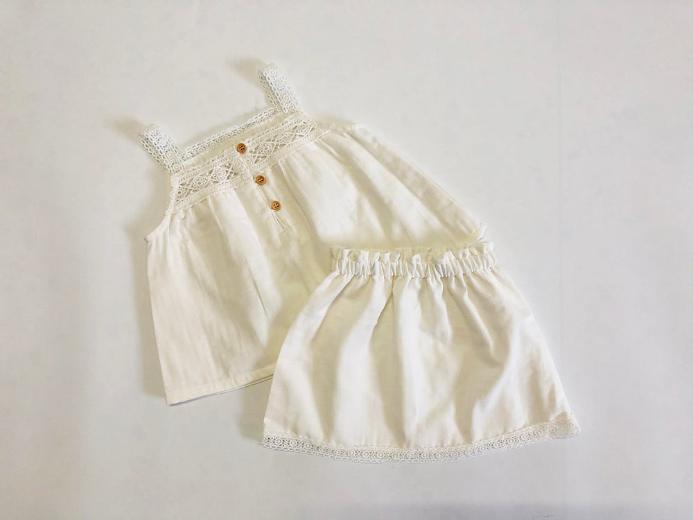 PREORDER: Provence 2pcs set: Top with skirt: 1-2Y, 2-3Y, 3-4Y, 4-6Y
