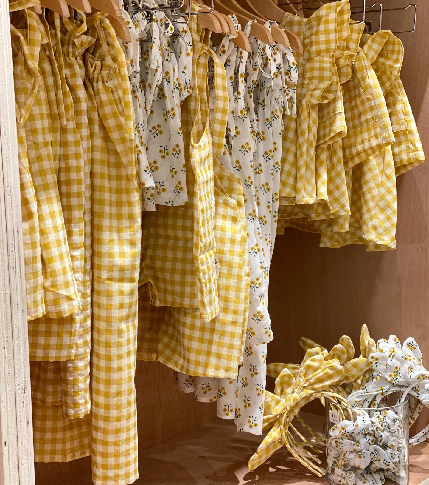 Satya Dress: 1-2Y, 2-3Y, 3-4Y, 4-6Y, 6-8Y, french flowers or mustard check