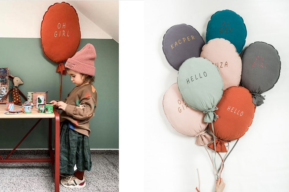 BALLOON PILLOW - personalised, preorder only.