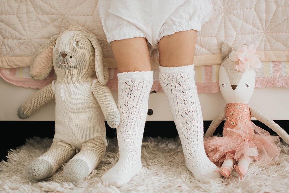 Florence Mesh Knee High Socks : 0-1Y, 1-2Y, 2-4Y, 4-6Y