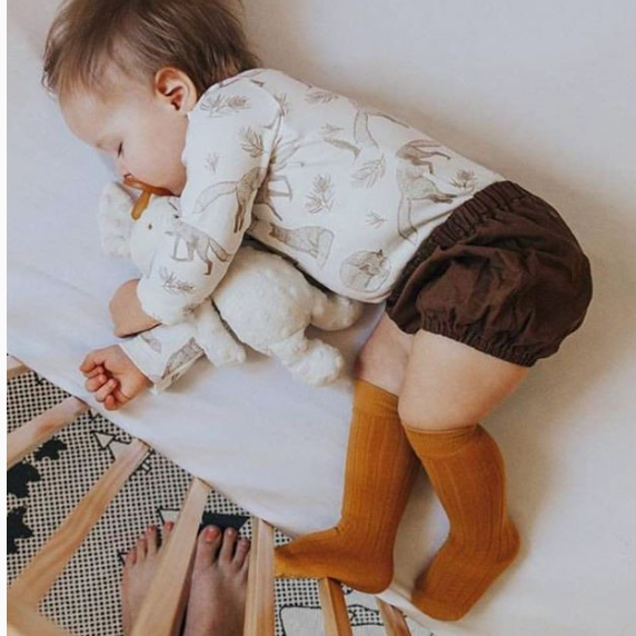 Classic cotton ribbed knee high socks: 0-1Y, 1-2Y, 2-4Y, 4-6Y