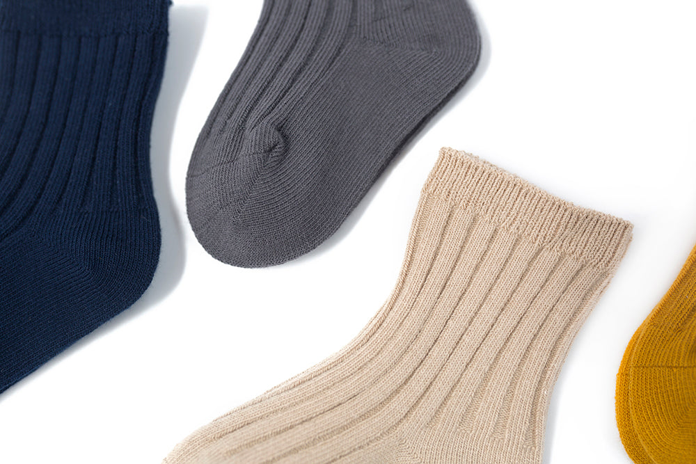 Ribbed cotton crew socks - 0-1Y, 1-2Y, 2-4Y, 4-6Y