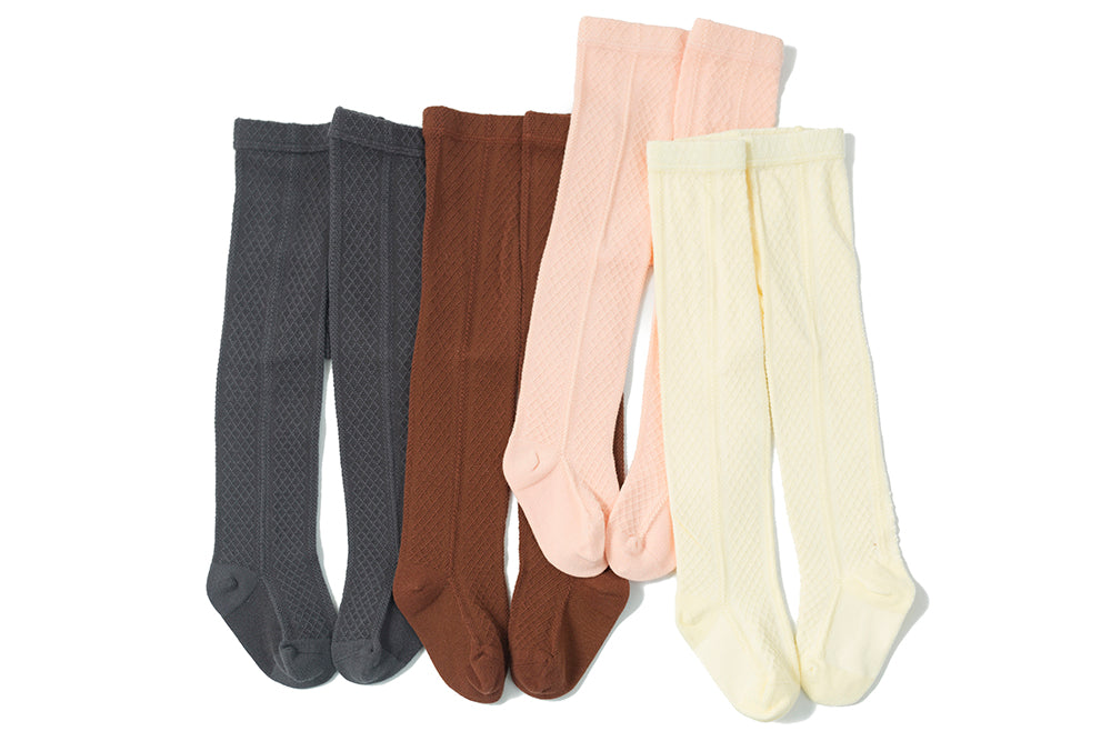 Diamond Luxe Soft Cotton Tights: 0-6M,6-12M, 1-2Y, 2-3Y, 3-4Y, 5-6Y, single or bundle of 4