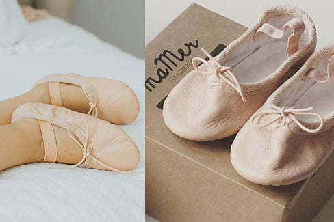 Dancing ballet shoes - handmade from cowhide, 100% cotton lining, suede sole. Ethically made in Pakistan.