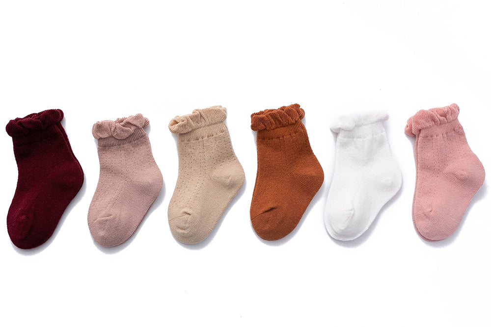 Soft cotton frilly socks - 0-1Y, 1-2Y, 2-4Y, 4-6Y