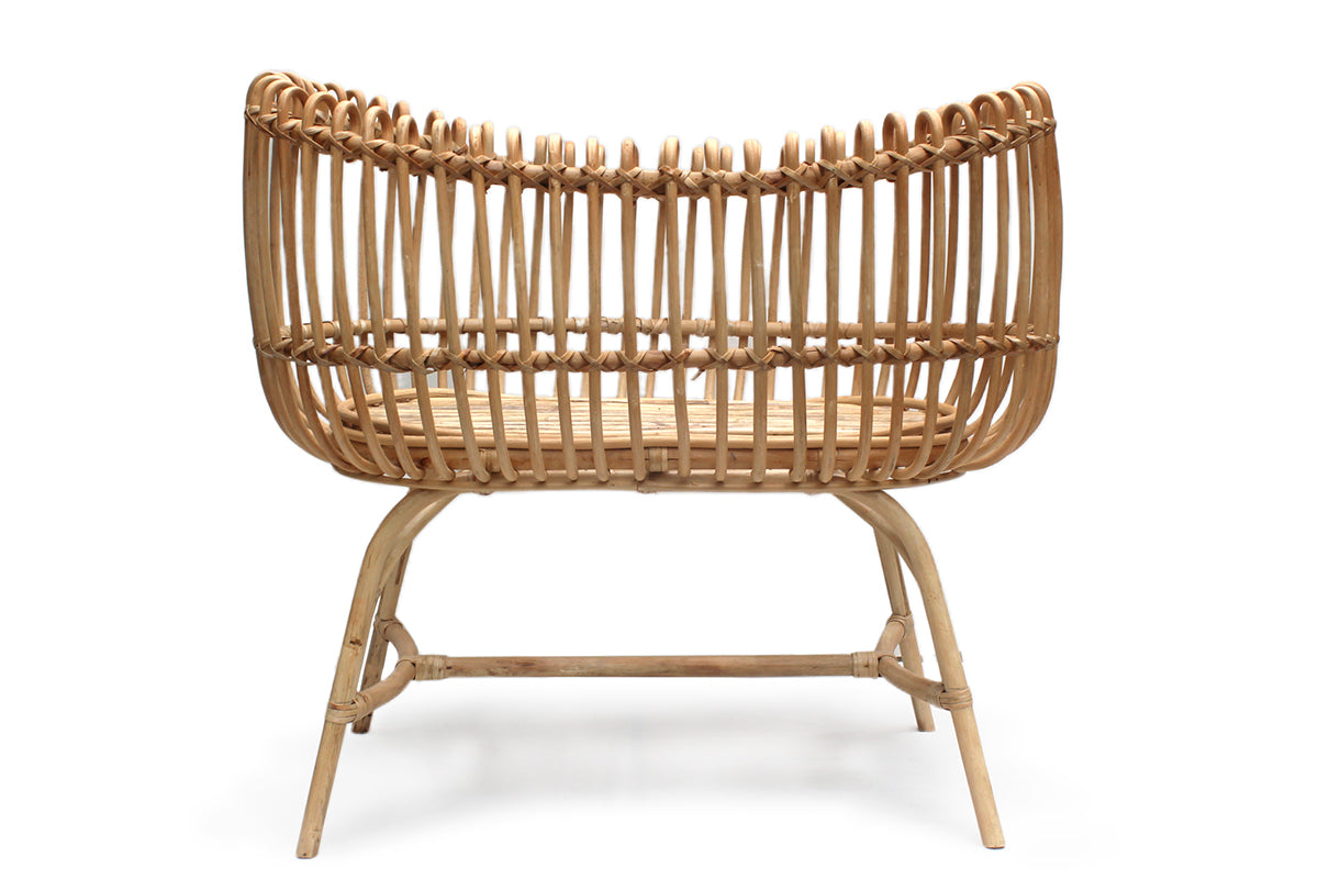 Suoki Handmade Rattan Baby bassinet + mattress: only 4 left in stock