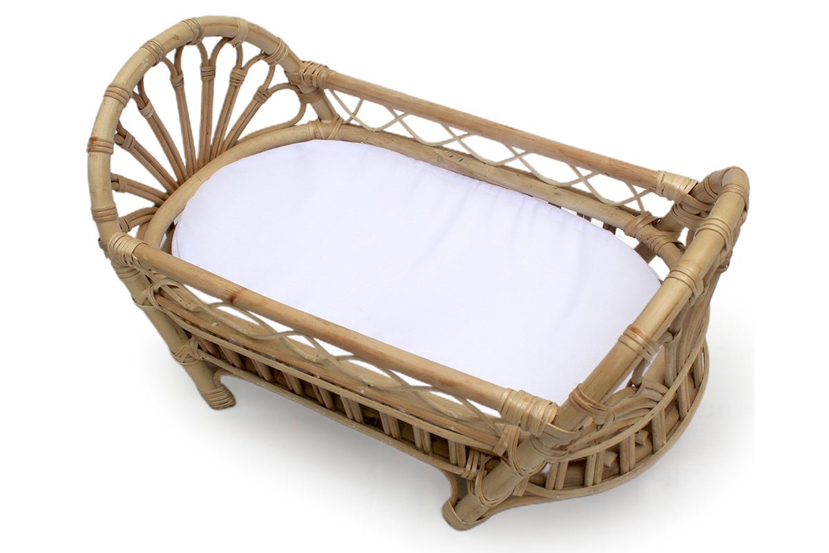 Sarra Rattan Doll Bed + mattress