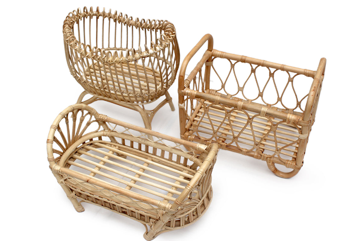 Terra Rattan Doll Bed + mattress