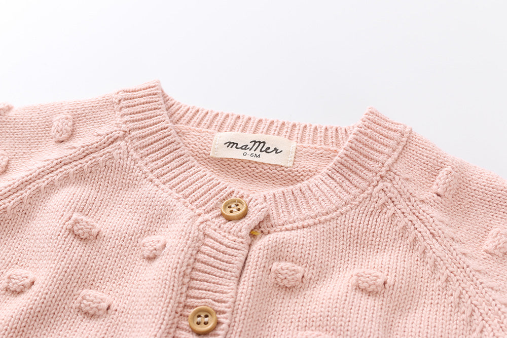 Charlie knitted bubble cardigan - 100% cotton