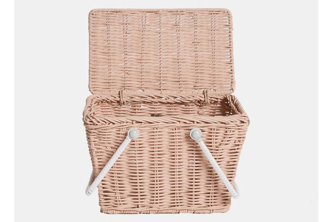 Piki Basket - Rose, white, mint