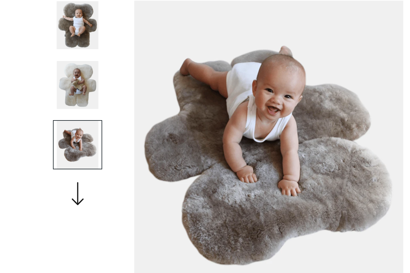 FLATOUT bear rug - made from 100% australian sheepskin