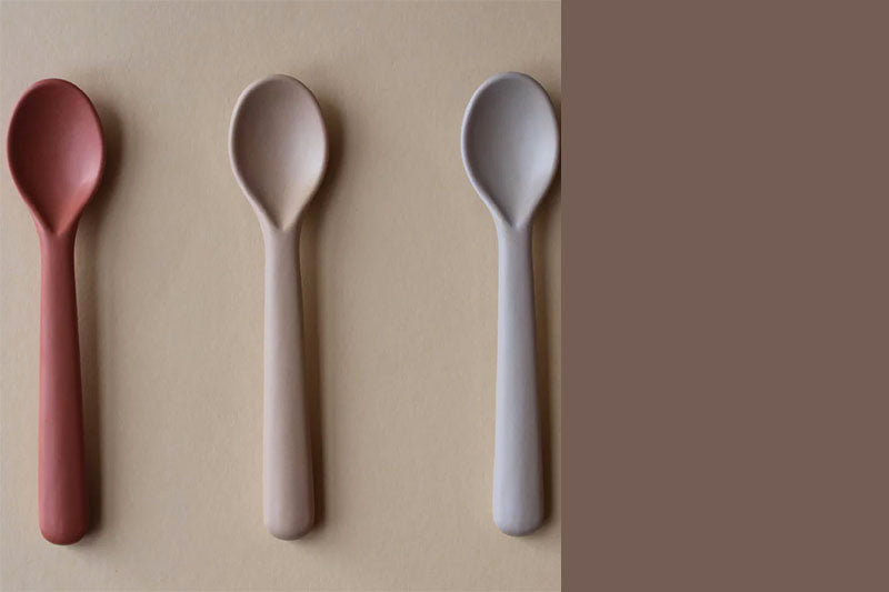 Toddler Bamboo Spoon - 3 pack, Fog/Rye/Brick
