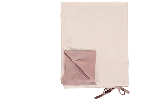 Organic Cotton Reversible Duvet Cover - Blush Rose/Pink - made in Portugal