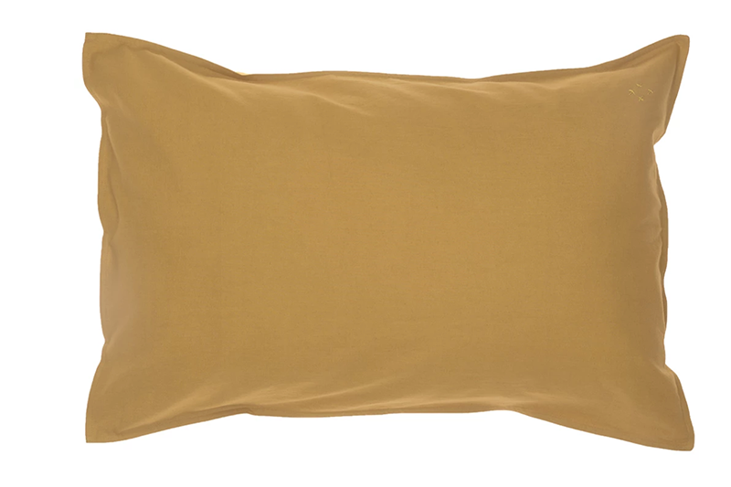 Organic Pillowcase - Ochre - made in Portugal