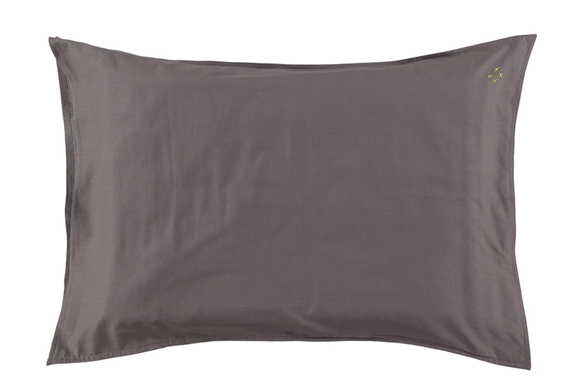 Organic Pillowcase - Grey - made in Portugal: W60xL40, W75xL50cm, W65xL65cm