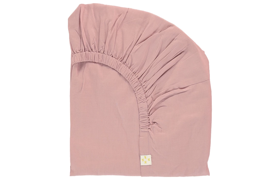 Organic Cotton Fitted Sheet - Blush Rose: W70xL140cm, W90xL200