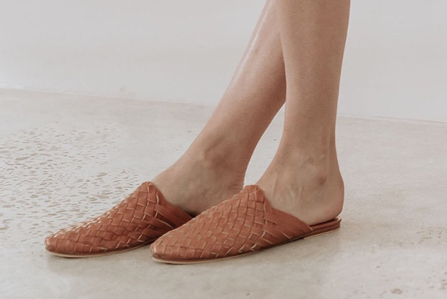 Women Woven Mule - Summer Tan