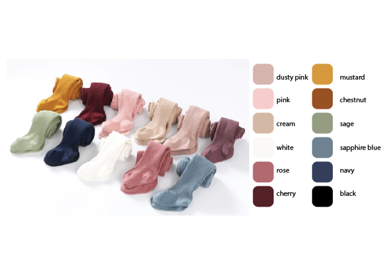 NEW COLOUR: Classic Cotton Tights - single or 3packs: 0-6M, 6-12M, 1-2Y, 2-3Y, 3-4Y, 5-6Y
