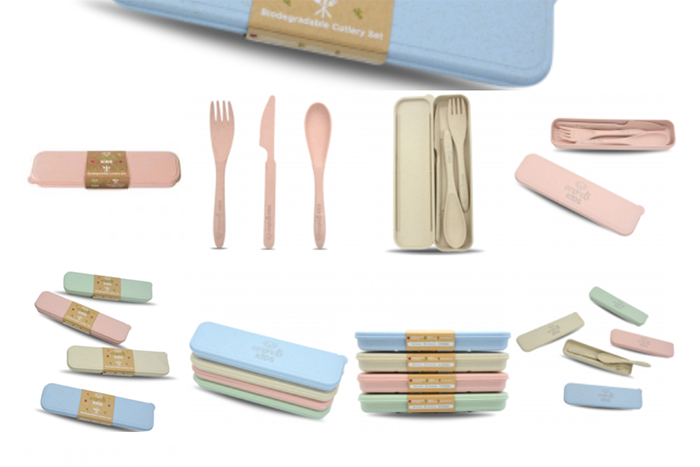 Eco Cutlery Set: Each box contains 1 x fork, 1 x knife, 1 x spoon.