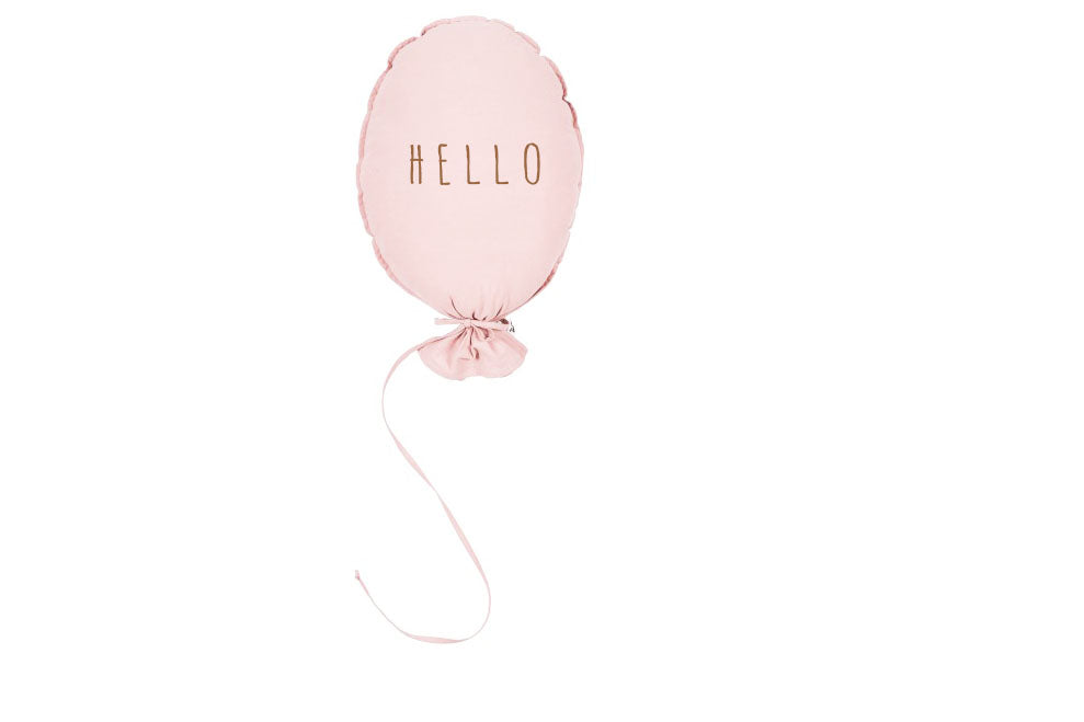 BALLOON PILLOW - oh girl pink , oh boy grey, hello baby white