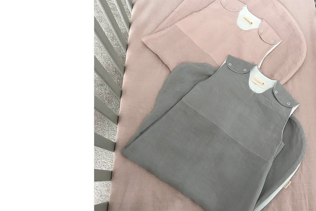 Pure Linen Sleeping Bag: 0.5TOG OR 1.5TOG dusty pink or grey