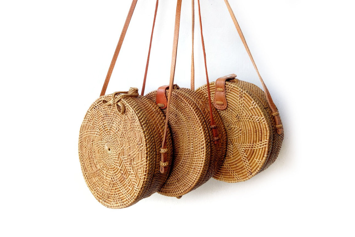 Aless Rattan Round Bag - Matching one for MUM