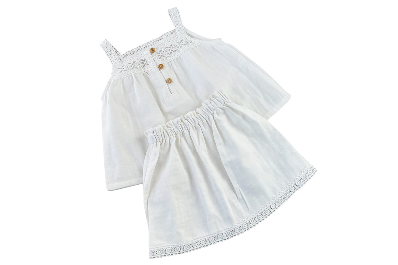 Provence 2pcs set: Top with skirt: 1-2Y, 2-3Y, 3-4Y, 4-6Y