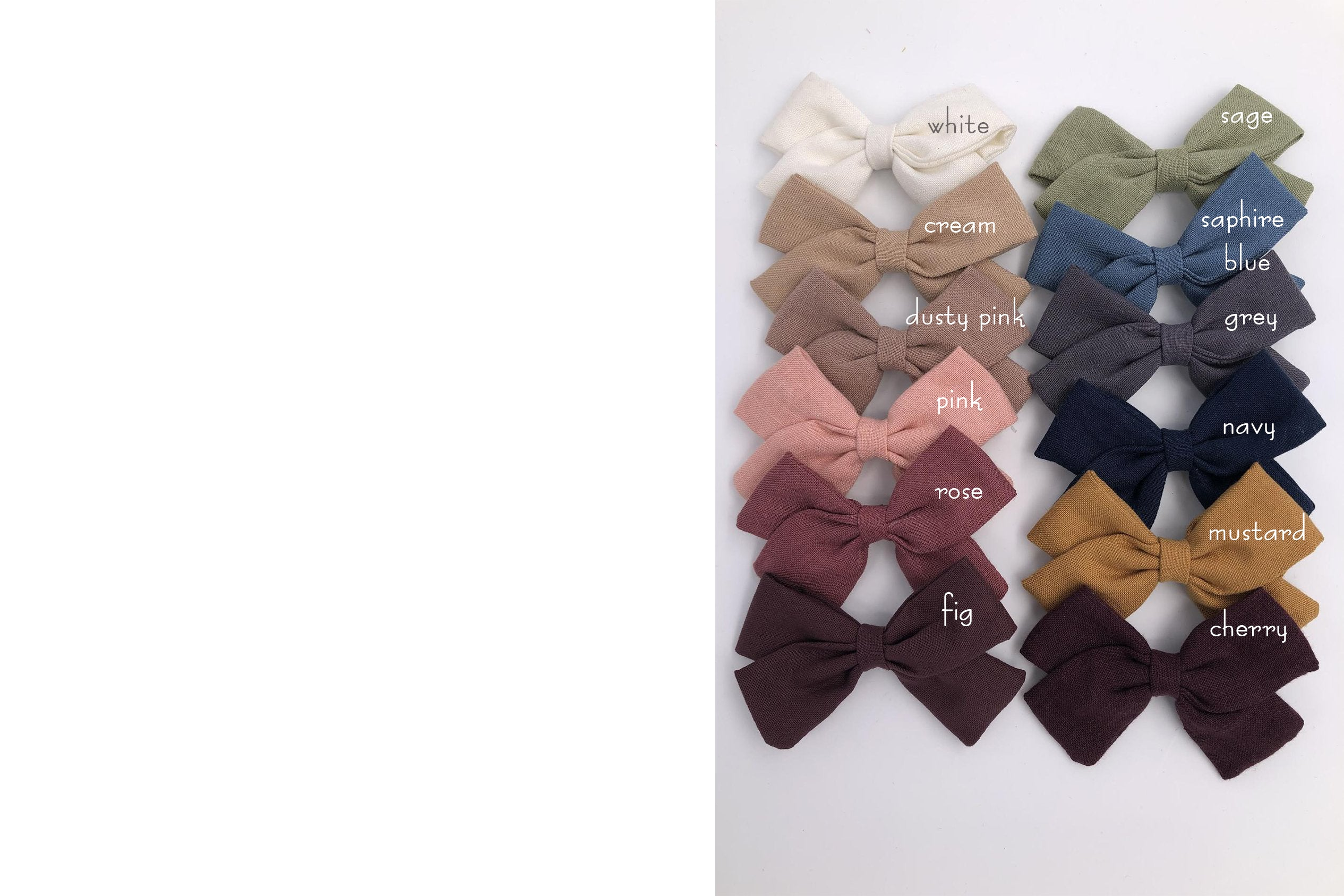 PREORDER! VALERIA BOW - hair bows clip or elastic headbands