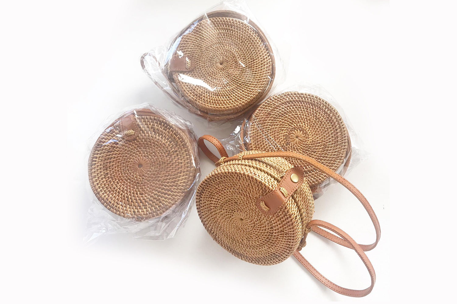 Aless Mini Rattan Round Bag - Size suitable for Mums and Kids