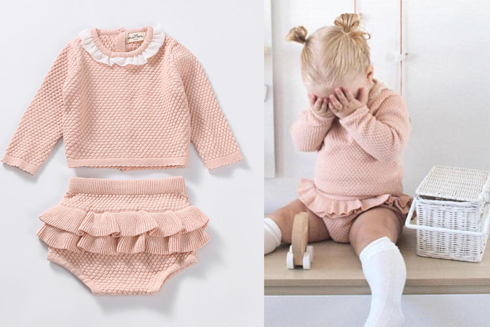 Stella 2piece set - 100% cotton: 0-6M, 6-12M, 12-18M, 18-24M, 2-3Y, 3-4Y