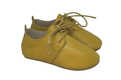 OXFORD SHOES -  Handmade from 100% cow leather -  chestnut, only size AU7, AU8, AU9 and AU10 left