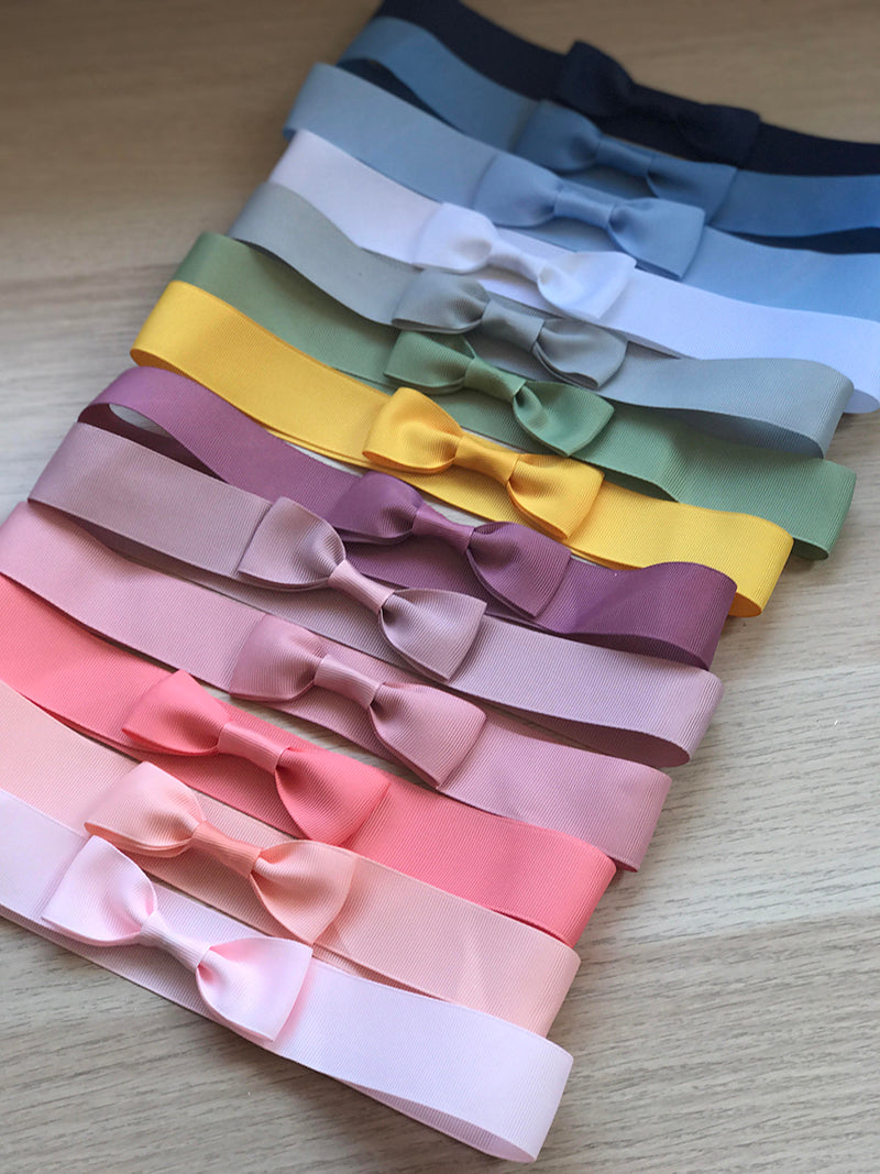 Customise your summer hat -  hand stitched ribbon with bow - fits all our hats - 15 colours available